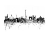 Paris France Skyline Giclée premium par Michael Tompsett