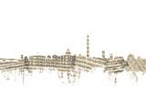 Washington DC Skyline Sheet Music Cityscape