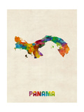 Panama Watercolor Map
