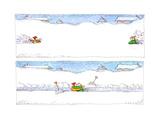 Shoveling Snow - Cartoon