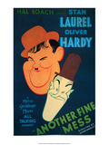 Vintage Movie Poster - Laurel & Hardy  Another Fine Mess
