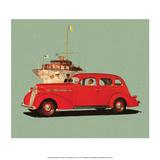 Red Studebaker Dictator  Vintage Car Advertising