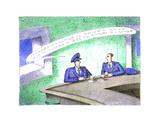 Military men at bar - Cartoon