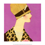 Art Deco Woman Wearing Pearl Necklace