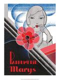 Vintage Art Deco Label  Parfumerie Marys