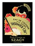 Vintage Art Deco Label  Eau de Cologne