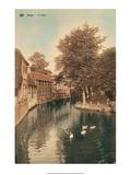 Vintage Postcard  Le Dijver  Bruges