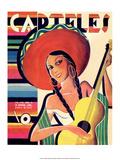 Carteles  Retro Cuban Magazine  Senorita Playing Guitar