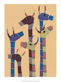 India Folk Art  Giraffes