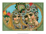 Vintage Indian Bazaar  Lord Krishna with Radha