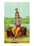 Vintage Indian Bazaar  Lord Krishna