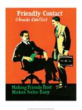 Vintage Business Making Friends
