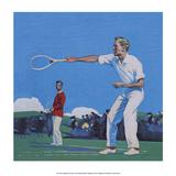 Vintage Tennis Poster  Men's Doubles Match