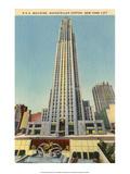 Vintage New York Postcard -RCA Building Rockefeller Centre