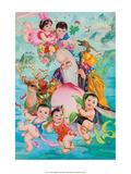 Chinese Happy New Year Babies with Shou Lao (Longevity)