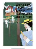 Vintage Tennis Poster  1896
