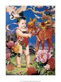 Chinese Happy New Year Baby with Lucky Deer