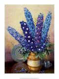 Vintage 1930s Flower Arrangement of Delphiniums