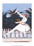 Retro Tennis Poster  Woman Player  1920s