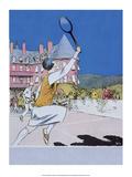 Retro Tennis Poster  Woman Player  1925