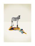 Zebra - Walking Shadows Giclée par Jason Ratliff