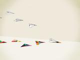 Paper Planes Reproduction d'art par Jason Ratliff