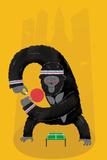 King Kong Ping Pong Reproduction d'art par Chris Wharton