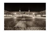 Plaza Mayor After Midnight  Madrid  Spain