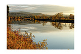 Connecticut River Tranquil Autumn Scenic Vista