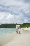 Couple Walking on Savannah Bay Beach