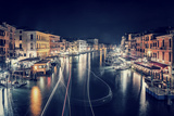 Venice City at Night  Beautiful Majestic Cityscape  Many Glowing Lights in the Buildings over Grand