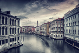 Beautiful Venice Cityscape  Vintage Style Photo of a Gorgeous Water Canal  Traditional Venetian Str