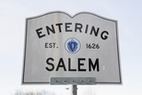 Entering Salem Road Sign  Massachusetts  Usa  03162014