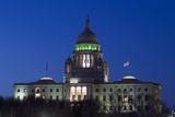 Rhode Island State Capitol at Dusk  Providence  Rhode Island  03182014