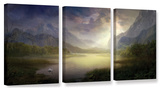 Silent Morning  3 Piece Gallery-Wrapped Canvas Set