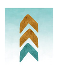 Gold and Teal Tribal Arrows