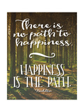 Buddha Path to Happiness Reproduction d'art par Tara Moss
