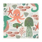 Under the Sea Pattern Reproduction d'art par Katie Doucette