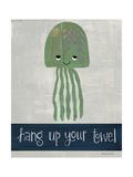 Hang Up Your Towel Reproduction d'art par Katie Doucette