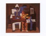 Trois musiciens Reproduction d'art par Pablo Picasso