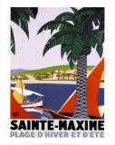 Sainte Maxime Reproduction d'art par Roger Broders