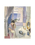 Woman Reading at a Dressing Table  Late 1919
