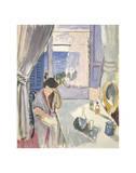 Liseuse à la coiffeuse, fin 1919 Reproduction d'art par Henri Matisse