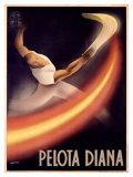 Pelota Diana Giclée par Mancioli