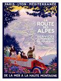 La Route des Alpes Giclée par Roger Broders