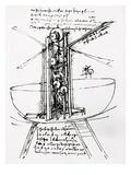 Drawing of a Manually Driven Flying Machine by Leonardo da Vinci