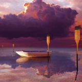 Cumulus Cloud  Rowboat  and Paddles