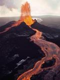 Kilauea Volcano Erupting Papier Photo par Jim Sugar