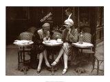 Café et cigarette, Paris 1925 Reproduction d'art