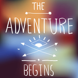 Adventure Quote on Blurred Background